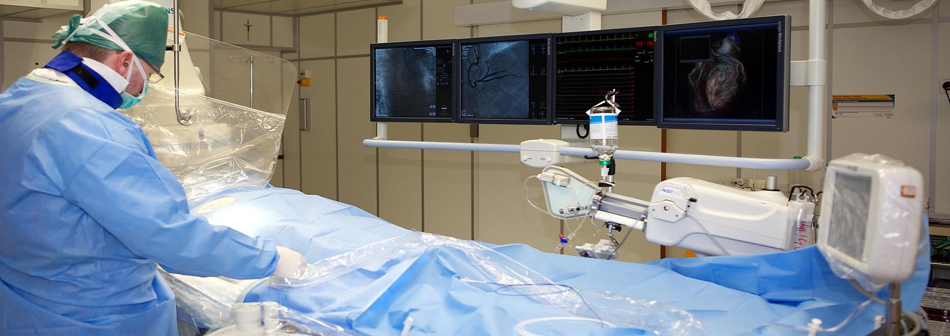 Zdjecie z zabiegu operacyjnego kardiologicznego