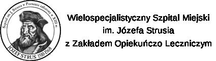 Logo i nazwa szpitala im. Józefa Strusia w Poznaniu