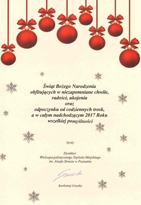 Życzenia - Boże Narodzenie 2016